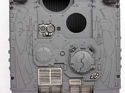 Space Marine Land Raider freehand application