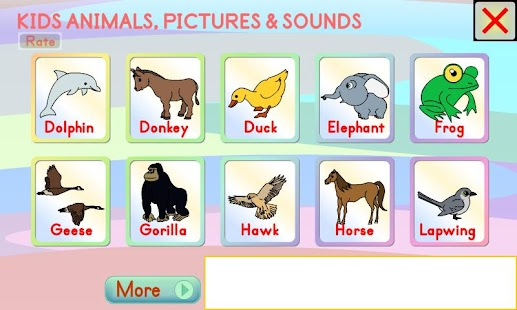 Kids Animals Pictures & Sounds- screenshot thumbnail