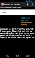Screenshot of Gurbani Hukamnama