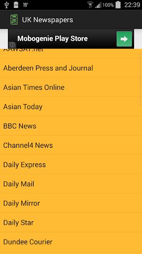 UK Newspapers News Portals
