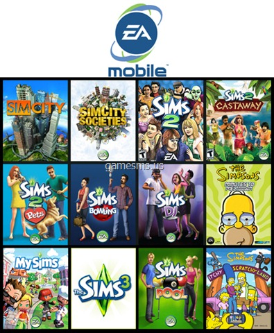 The Sims and Simpsons EA Mobile Games