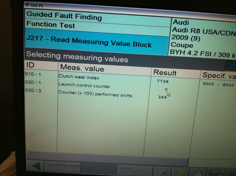 How to check clutch wear and launch control usage with VCDS