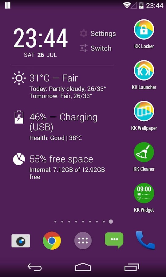 KK Widget ( DashClock + )- screenshot