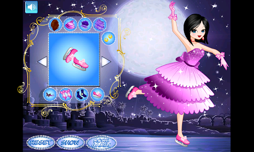 Cute Princess Skating Dressup