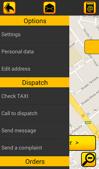 LUX TAXI Client- screenshot