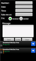 Screenshot of Sending Fake SMS
