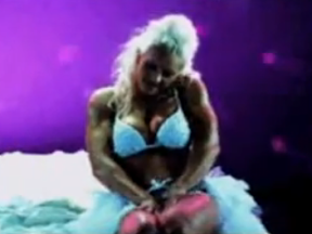 Female muscle growth song video