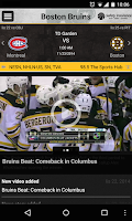 Screenshot of Boston Bruins Official App