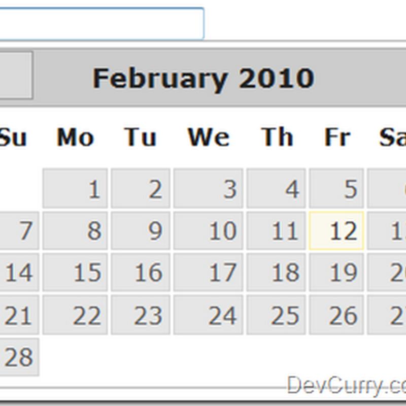 DevCurry: jQuery UI DatePicker – Programmatically selecting