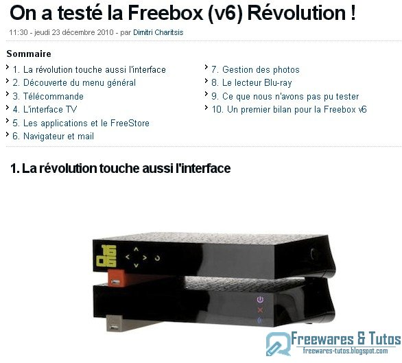 Installer imprimante freebox v6