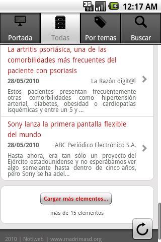 Notiweb - screenshot