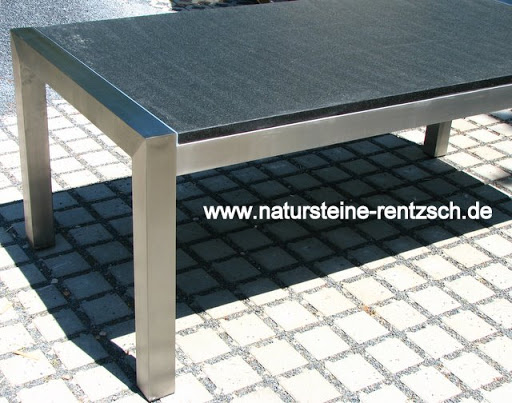 tisch esstisch 200 90 edelstahl gartentisch granit marmor. Black Bedroom Furniture Sets. Home Design Ideas