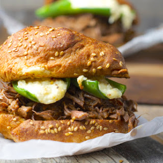 Shredded Beef and Jalapeno Popper Burgers Recipe