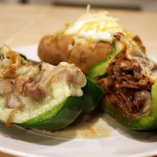Philly Steak and Cheese Stuffed Peppers.