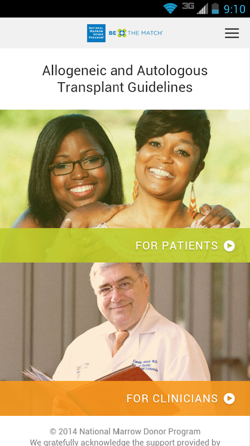 Transplant Guidelines - screenshot