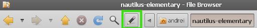 Barra de Endereços do Nautilus no Ubuntu 9.10