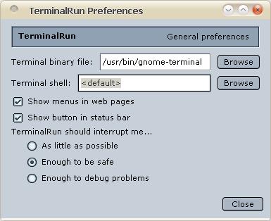 TerminalRun Firefox Addon Allows You To Run Shell Commands