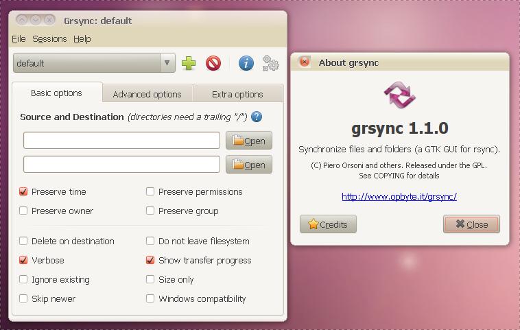 Grsync (Rsync GUI) 1 1 0 Ubuntu 9 10 And 10 04  deb Download ~ Web