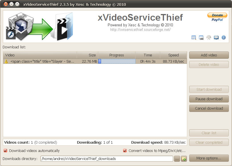 xVideoServiceThief Downloads Video Clips From 76 Websites