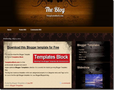 The Blog Blogger Template