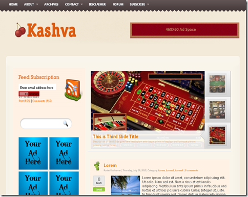 Kashva Blogger Template