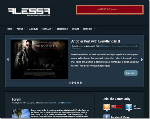 Alessa Blogger Template