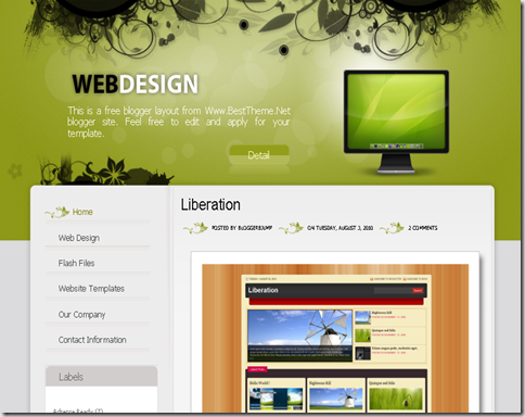 Web Design Blogger Template