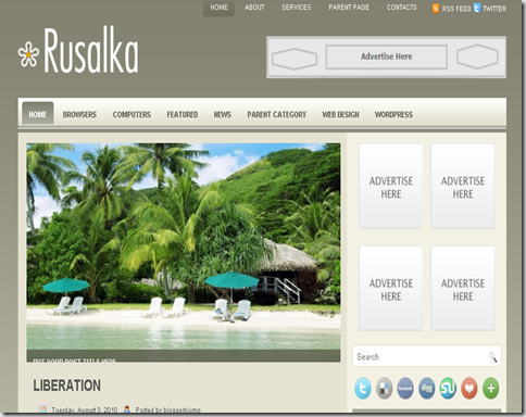 Rusalka Blogger Template