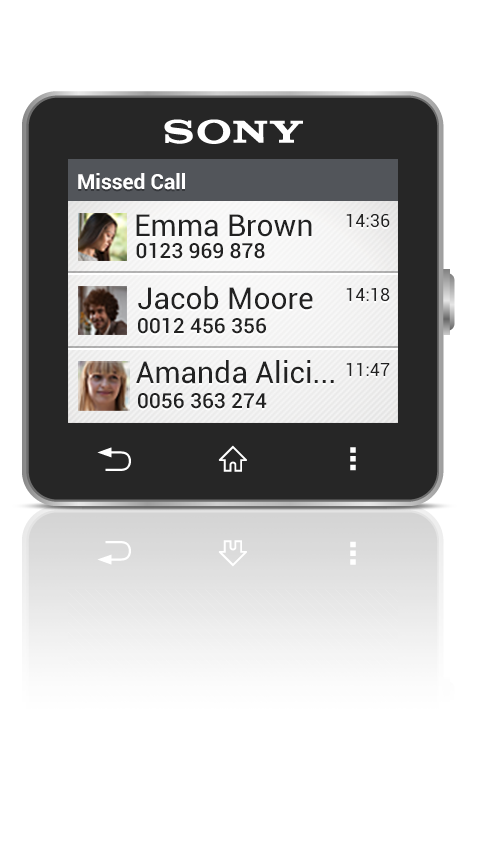 Missed Call smart extension- screenshot