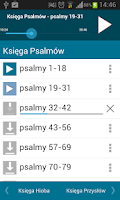 Screenshot of Pismo Święte Audio