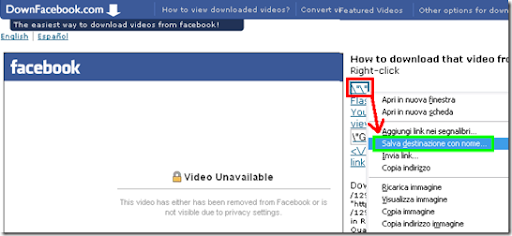 video da facebook online senza usare programmi con downfacebook
