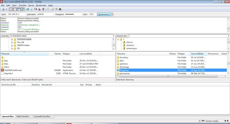 WiFi Pro FTP Server Screenshot 4