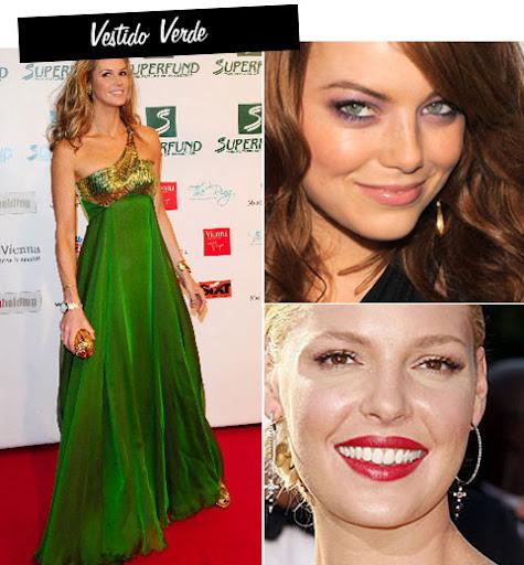 Cor de maquiagem para usar com vestido verde