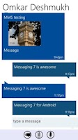 Screenshot of Messaging 7