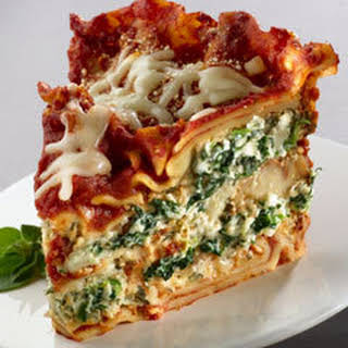 Slow Cooker Spinach Lasagna.
