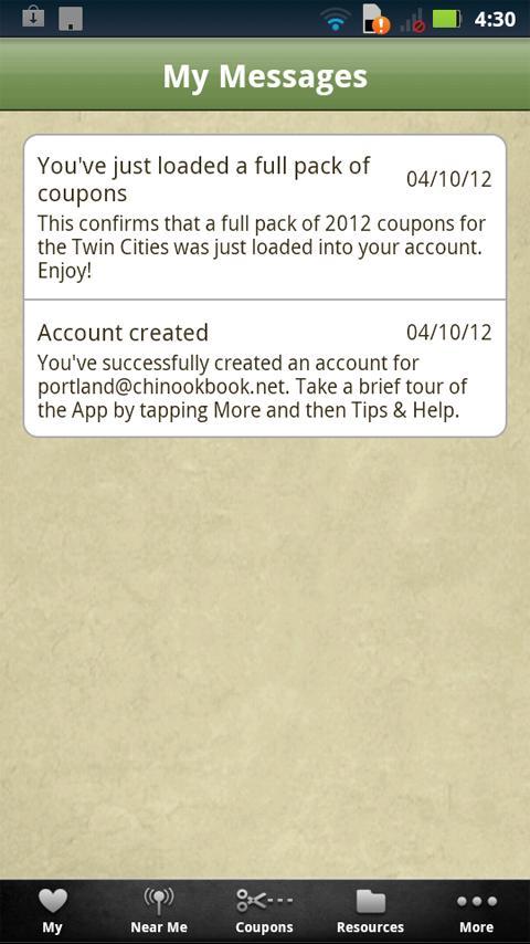 Chinook Book - screenshot
