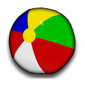 Beach Ball Analog Clock Widget icon