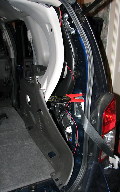 How I Added a Reverse Camera to my '09 Pathfinder Factory 7 ... Nissan Backup Camera Wiring Diagram on