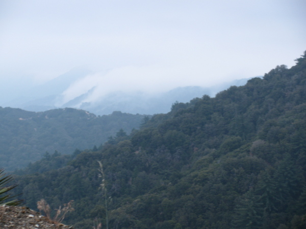 Even more spillage of clouds over the mountains.
