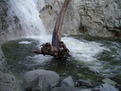 churning pool water