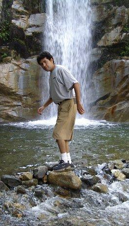 Antonio poses