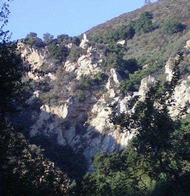 falls, cliffs, and sky
