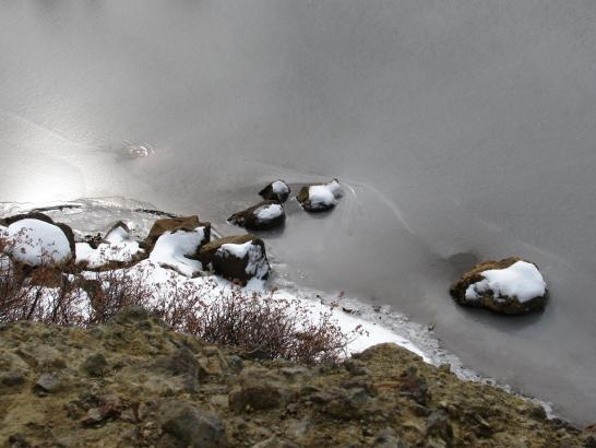 The lake ice.