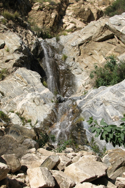 Ribbon Rock Falls and Moss Grotto Falls in Rubio Canyon.