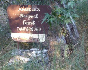 Angeles National Forest Campground: Valley Forge (sign)