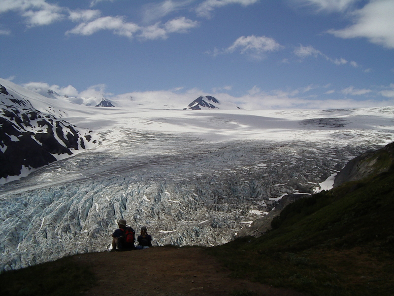 The icefield is indeed a field of ice.