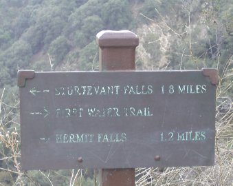 Sign marking the First Water Trail.