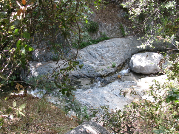 the streambed near the campground