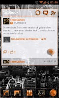 Screenshot of GOWidget Orange ICS Light Free