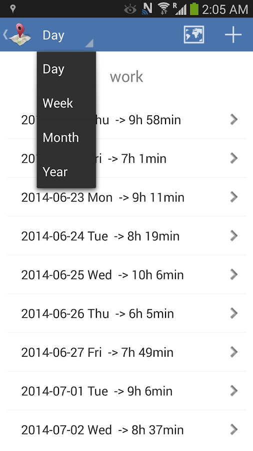 Timesheet - Geofence Location- screenshot